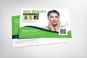 Spa Beauty Postcard Template