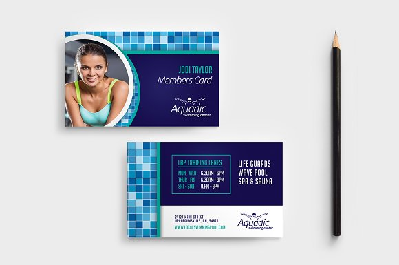 Swimming Pool Business Card Template Business Card Templates