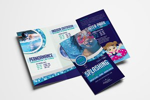 Swimming Pool Trifold Brochure