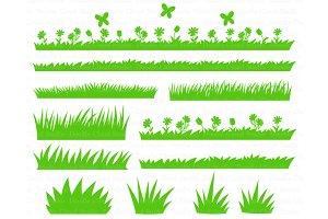 Grass SVG Files, Grass and Flowers