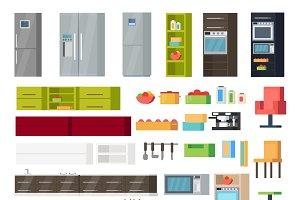 Kitchen Interior Elements Collection