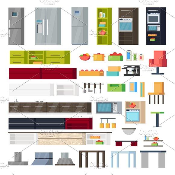 Kitchen Interior Elements Collection