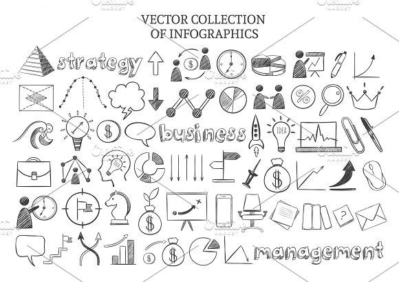 Business Strategy Elements Set