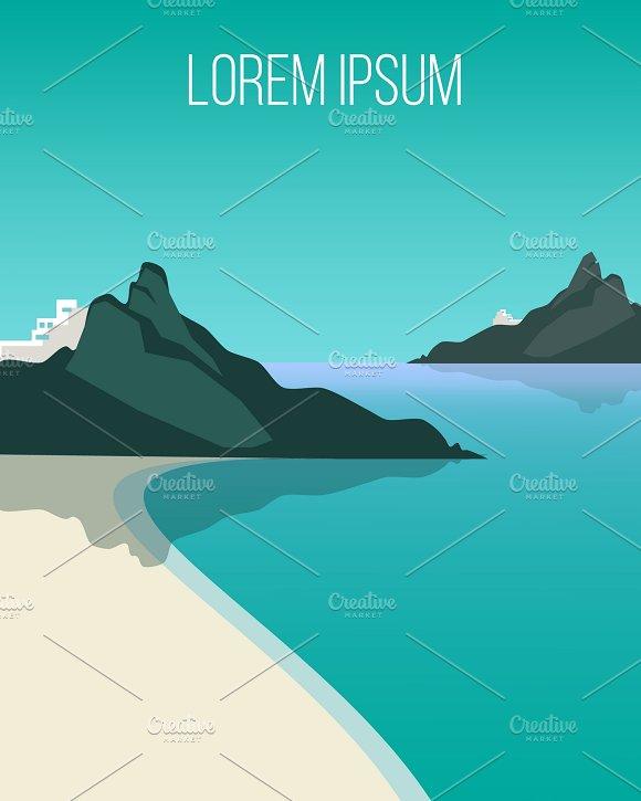 Flat Coast Landscape Background