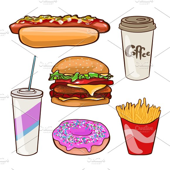 Fast Food Flat Collection