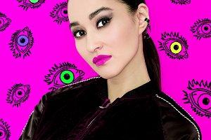 Beautiful Girl Smoky eye makeup.