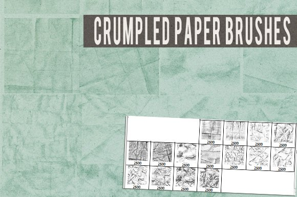 crumpled paper brushes brushes