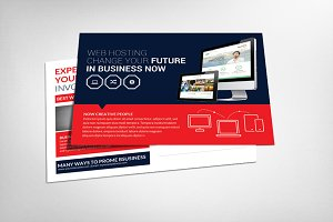 Web Hosting Business Postcard