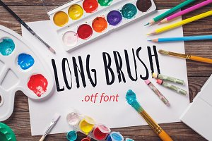Long brush font.
