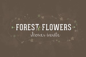 Forest & Flowers Shower Invitation