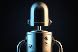 Robot portrait. 3D illustration