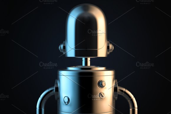 Robot Portrait 3D Illustration