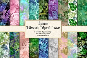 Iridescent Tropical Leaf Patterns