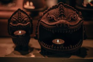 Cool Cambodian Candle Holders