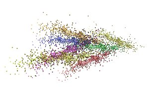 Abstract glitter dot isolated