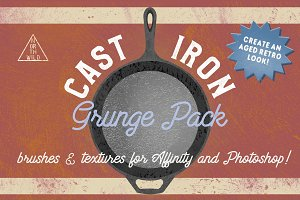 Cast Iron Grunge Brushes & Textures