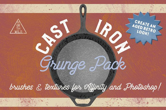 Cast Iron Grunge Brushes Textures