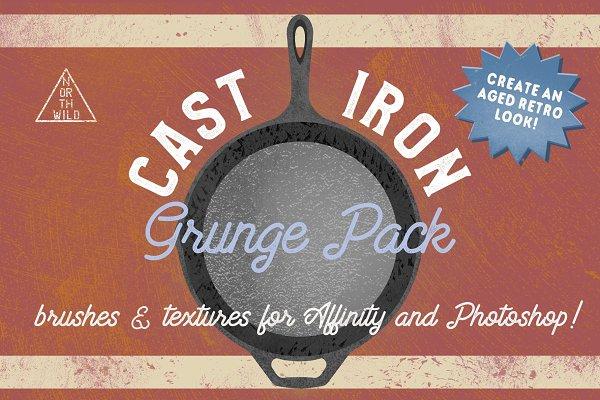 Cast Iron Grunge Brushes & Textures
