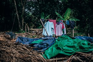 Drying Clothes in Cambodia