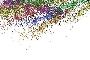 dot metal glitter texture isolated