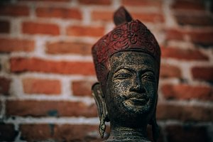 Wooden Cambodian Statue