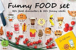 Funny FOOD set