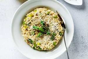 Italian risotto with spring fresh as