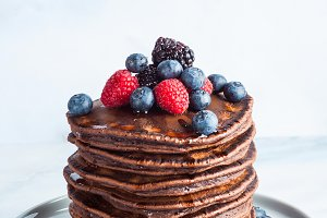 a stack of chocolate gluten free pan