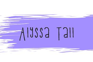 Alyssa Tall Handwriting