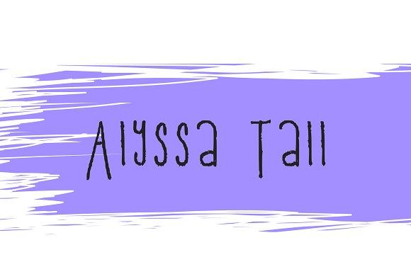 Alyssa Tall Handwriting