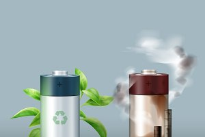 Ecological friendly battery