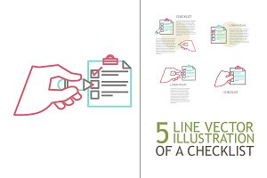 Line illustration of a  checklist
