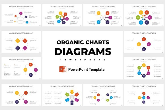Organic Charts Diagrams PowerPoint