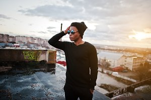 Portrait of  style black man on the
