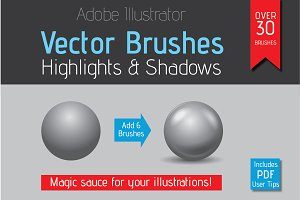 Highlight & Shadow Vector Brushes