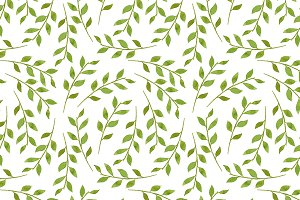 5 Pattern made of green leaves