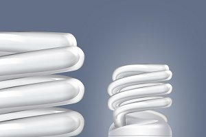 Fluorescent energy saving lamps