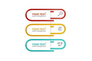 Vector colorful clips. Option banner