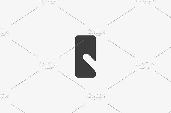 Touch Screen Finger Vector Logotype Linear Smart Phone Tablet Pc Negative Space Logo Symbol