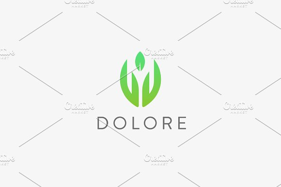 Hand Leaf Logotype Palm Eco Vector Logo