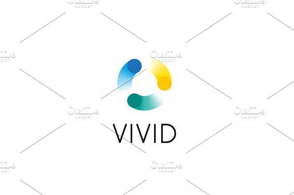 Abstract Circle Swirl Dots Logo Design Universal Color Vector Logotype