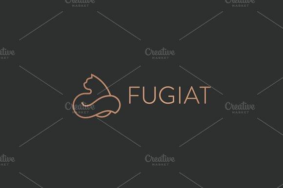 Cat Linear Logo Design Pet Vector Logotype