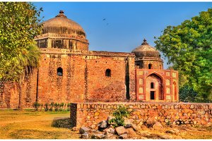 Afsarwala Mosque and Tomb at the Humayun Tomb Complex in Delhi, India