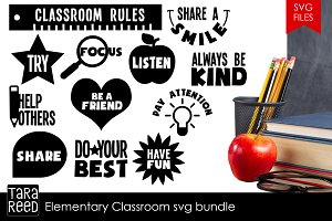 Elementary Classroom SVG Bundle