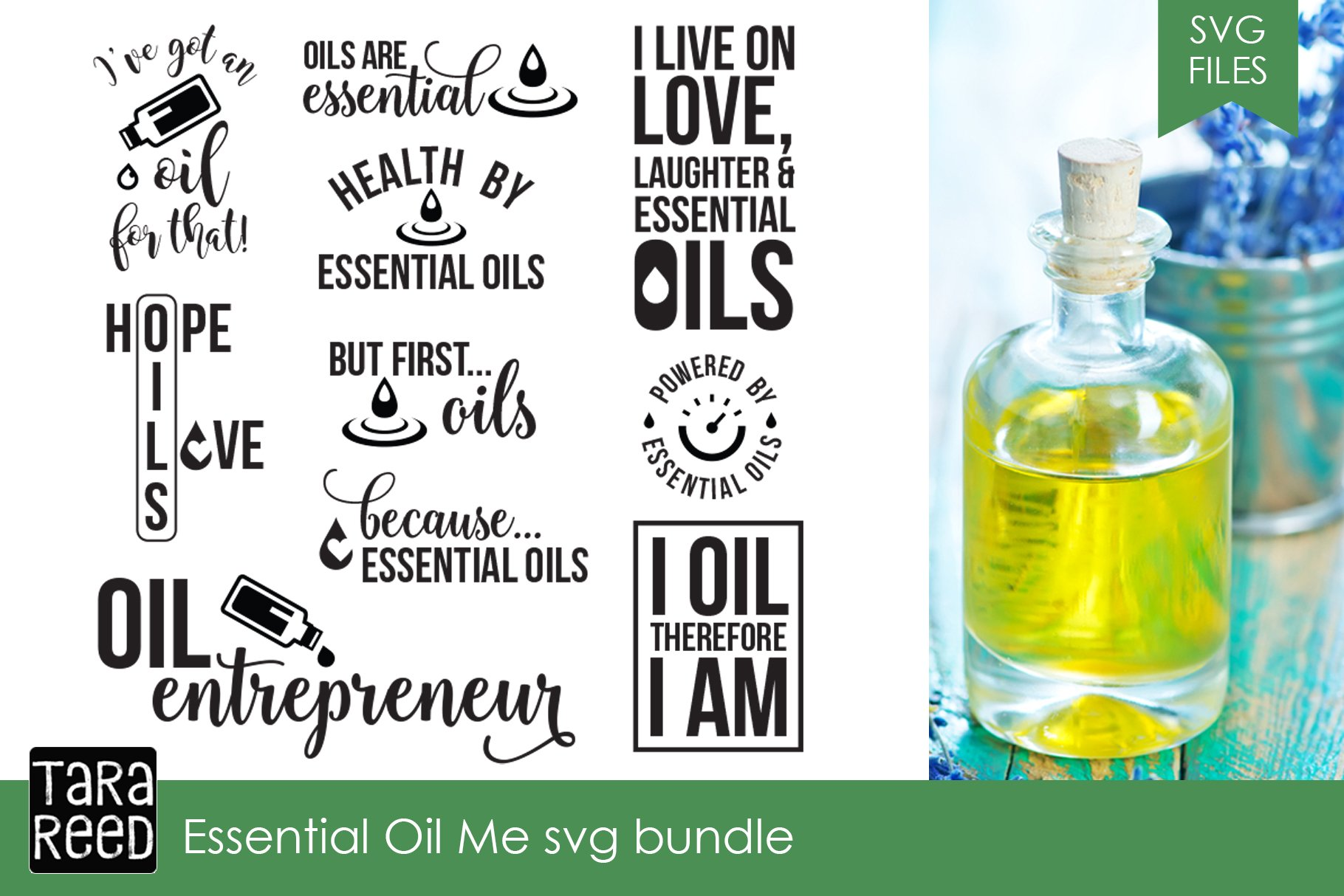 Essential Oil Svg Bundle Illustrations Creative Market