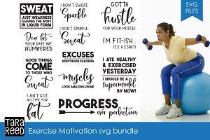 Exercise Motivation SVG Bundle