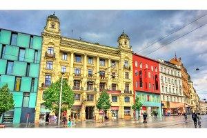 Freedom Square, the main square of Brno in Czech Republic