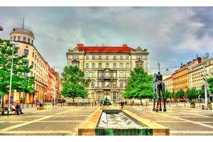Moravske Namesti, a square in Brno, Czech Republic