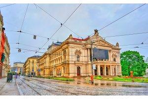 Mahen Theatre in Brno, Czech Republic