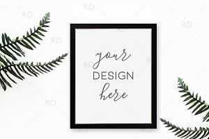 Tropical Leaves Frame Mockup - 8x10